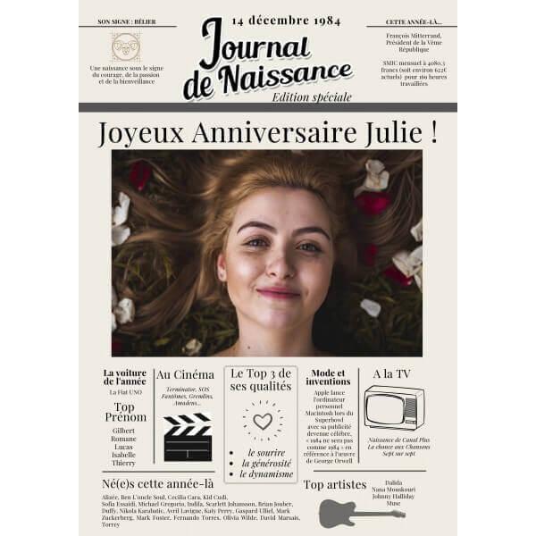 Journal de Naissance : Certifié 100% Authentique®