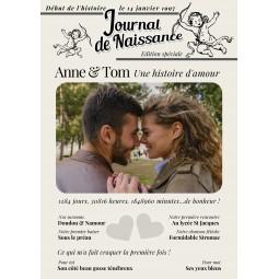 poster personnalisé couple