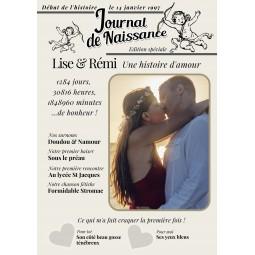 affiche personnalisée couple